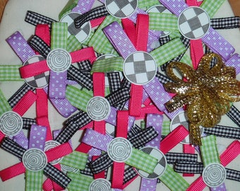 DlY PRE-MADE 3-D RIBBONS, Ribbon Flowers, Die Cut Blossoms, Scrapbooking, Card Making, Craft Supply, Gift Tag Accent, Hair Accessory, Mother