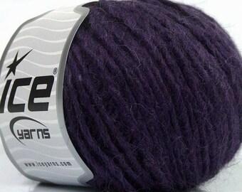 Peru Alpaca Worsted Yarn Purple #48985 Ice Merino Wool Alpaca Acrylic 50g 98y