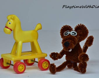 Pipe Cleaner Animals, Pipe Cleaner Mouse, Mouse Toy, Chenille Toy, Handmade, Pipe Cleaner Craft