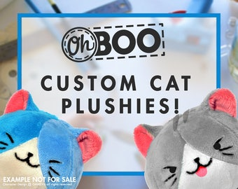 Custom Cat Plush - YOUR Cat - Cat Pillow - Custom Stuffed Animal - Anime Plush - Custom Plushie - War of Crown - Gift Wrapped - Ships Fast!