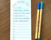Get It Done Printable To Do List Hand Drawn Ribbon Banner   Simple Minimalist Organizer Planner   Weekly Plan Calendar Template Blank DIY