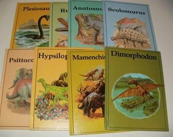 Group of vintage 1980s Chidrens Dinosaur Books - Entertaining, Educating, Art