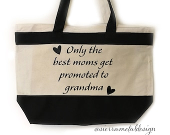 Grandma Tote Best Grandma Ever Best Mom Life The Best Life Gift For Grandma From Grandkids Mothers Day Christmas Birthday Blessed Forever