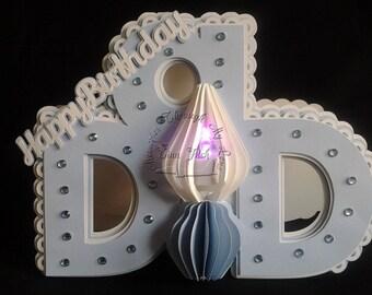 Tea-light Dad Candle Card TF0187,SVG,MTC,SCAL,Cricut,ScanNCut,Cameo
