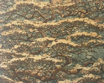 Original Mounted OOAK Woodblock Tree Print - Hand Pulled Fine Art Print - Ready To Hang Wall Art Landscape