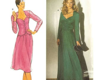 1970s Sweetheart Neckline Evening Dress Pattern Burda 9154 B36 B37 B39