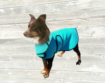 Dog Cool Coat with Matching Cool Collar, custom made just for your dog with velcro closure