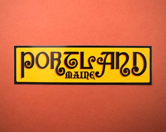 Portland, Maine Vinyl Sticker