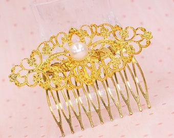 Pearl Hair Comb White Pearl Hair Comb Victorian Wedding Vintage Inspired Bridesmaids Bridal Comb Downton Abbey Inspired Boho