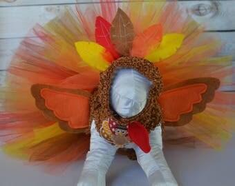 Dog Costume - Turkey - Dog Tutu Dress - Dog Halloween Costume - Dog Thanksgiving Day Dress - Large Dog Costume - Small Dog Costume