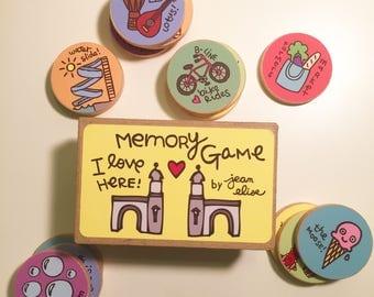 I Love Here: Bloomington Indiana Memory Game