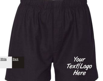 Custom Made Personalized Boxercraft - Cotton Boxer - C11 Glitter or Vinyl Print Customized Boxer Shorts with your text