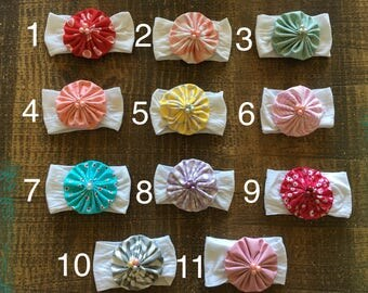 3/15.00 Newborn Nylon Headbands - You Choose!