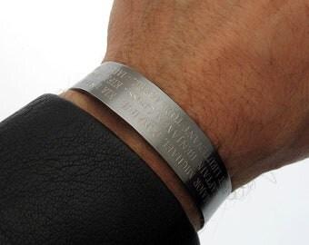 Custom Mens Leather Bracelet Men S Personalized Jewelry