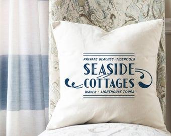 Beach Cottage Decor, Beach Pillow Covers, Beach Throw Pillow, Coastal Decor, Vintage Beach Decor, Coastal Cottage Decor, Summer Decor
