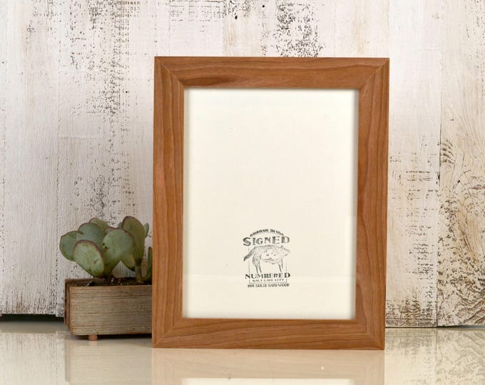 """9 x 12 Picture Frame in 1.5 Standard Style with Natural Cherry Wood Finish - IN STOCK Same Day Shipping - 9x12"""" Natural Picture Frame"""