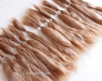 Doll hair suri alpaca blonde BJD Blythe long hair combed locks nice mohair hair pretty msd bjd wefts reborn reroot alpaca hair suri combed