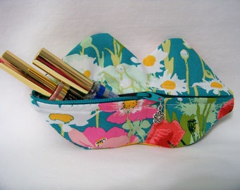 Zippy Lips in Mother's Garden Rich - Makeup Pouch - Coin Purse - Lipstick Pouch - Ready To Ship