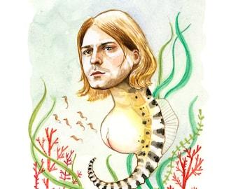 Kurt Cobain the pregnant seahorse print
