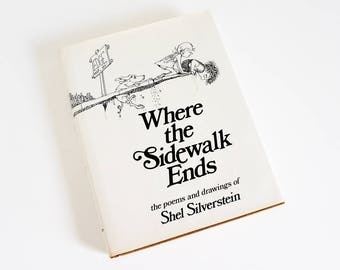 Vintage 1970s Childrens Book / Where the Sidewalk Ends 1974 HCDj Poems and Drawings of Shel Silverstein / Book for All Ages