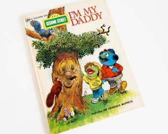 Vintage 1980s Childrens Book / Sesame Street I'm My Mommy I'm My Daddy Oversized Golden Book 1980 Hc / Two Books in One