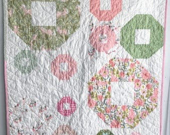 Handmade Baby Quilt, Crib Quilt, Patchwork Quilt, Nursery Quilt, Nursery Decor, Baby Girl Quilt, Baby Quilt, Unicorn Quilt - Meadow Dance