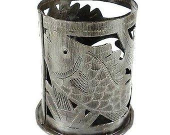 Metal Art Candle Holder Fish Design