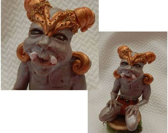 Gage Gargoyle Elf OOAK Fairy Fairies Sculpture Art Doll NEW Handmade Figurine Fantasy