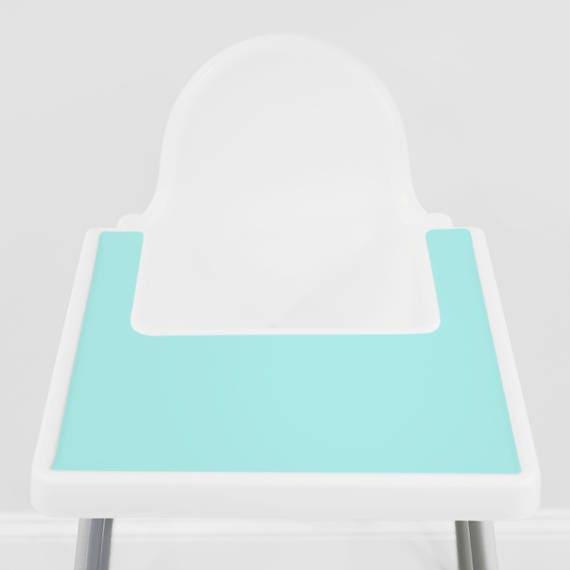tiffany blau ikea antilop hochstuhl silikon tischset. Black Bedroom Furniture Sets. Home Design Ideas