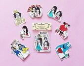Broad City Sticker Pack - Set of 7 - Vinyl Stickers - Handmade Sticker - Broad City Sticker
