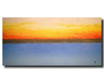 Art Original Large Abstract painting -24 X 48 - JMJartstudio- swept up- beach decor  Wall art -Oil paintings - Textured