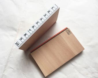 New - Oscolabo Ruler Stamp for art mailing, journaling, techo planner deco, packaging, card making