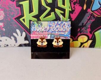 Disney's Chip the Chipmunk Stud Earrings