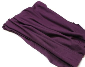 Purple Bandeau Headband, Hippie Band Head Hugger Headband, Purple Headwrap Bandeau, Extra Wide Head Wrap (#1606) S M L X
