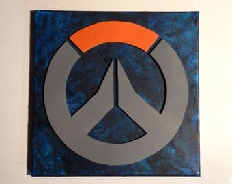 Overwatch Symbol Melted Crayon Art Painting