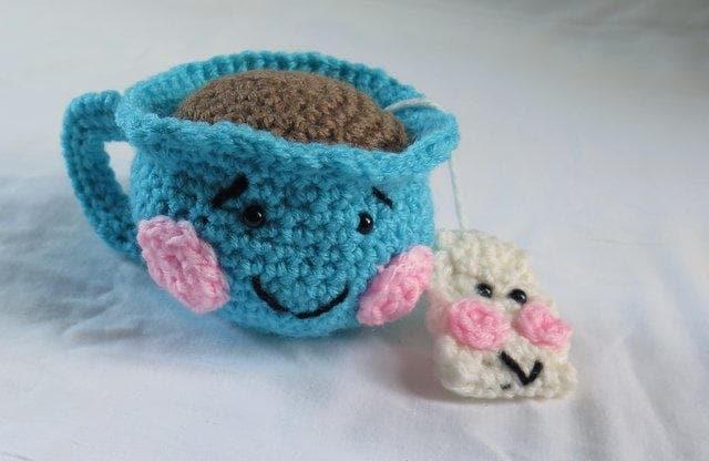 Crochet Cup Play Food Tea Cup and Bag Amigurumi Tea Cup