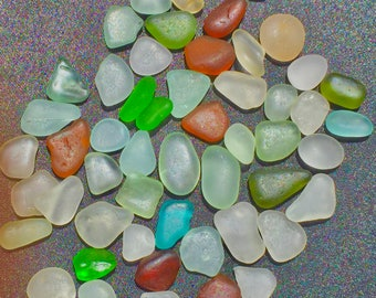 Beach Glass or Sea Glass of HAWAII beach 50  SEAFOAM! SALE!  for drilling!! Bulk Sea Glass! Sea Glass Bulk Seaglass