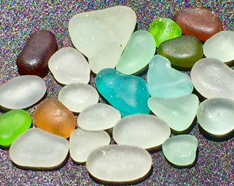 A-Sea Beach Glass of Hawaii! 22 FLAWLESS 4 jewelry! AQUA! Bulk Sea Glass for Jewelry! Genuine sea glass!  Seaglass! Beach Glass! SeaGlass