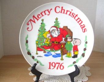 "Vintage 1976 Dennis the Menace Merry Christmas 10"" Collectors Plate Hank Ketcham"