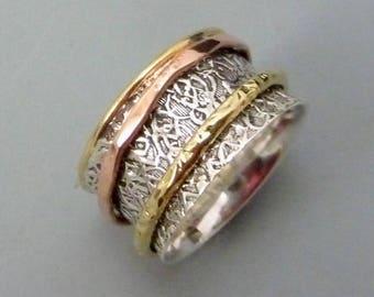 Spinner Rings Sterling Silver Jewelry Fidget Worry
