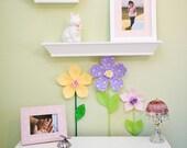 fabric flower garden, nursery decor, 3d wall art decor, baby shower gift. reserved for Heather