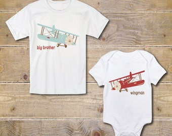 Big Brother Little Brother Shirts, New Big Brother, Baby Shower Gift, Silbling Shirt, Onesies, Outfits, Big Brother Baby Brother, Airplanes