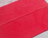 Hand dyed wool fabric - Light vermilion wool - rug hooking - wool applique - primitive crafting - quilting - sewing - watermelon - 028