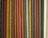 Fabric Bundle of Katie's Cupboard Collection by Kim Diehl, Fat Eighth or Quarter Yard Bundle, 100% Cotton Quilt Fabric for Sale