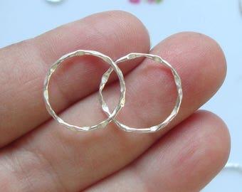 4 pcs, 15mm, Beautiful Textured Rings, Big jump rings, Terrafinds Popular item for Macrame bracelet - CC-0043