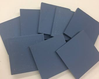 "2"" Blue Fonce unglazed ceramic tile-8 pc// unglazed porcelain mosaic tile"