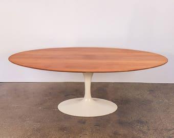 1950s Eero Saarinen Oval Walnut Dining Table for Knoll Associates
