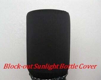 Block out sun light Bottle Cover-Black Bottle Cover-5 gallon Water Bottle Cover-Dispenser Cooler Decor