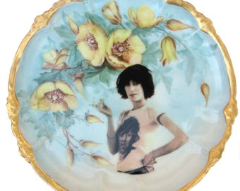 """Patti Smith Altered Vintage Plate 8"""""""