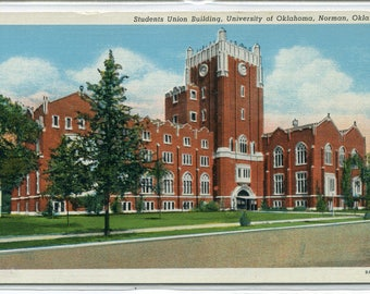 Student Union University Oklahoma Norman OK postcard